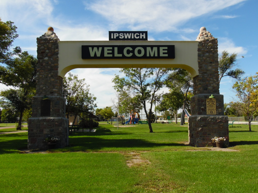 The YT Arch now at a park next to Hwy #12 in Ipswich
