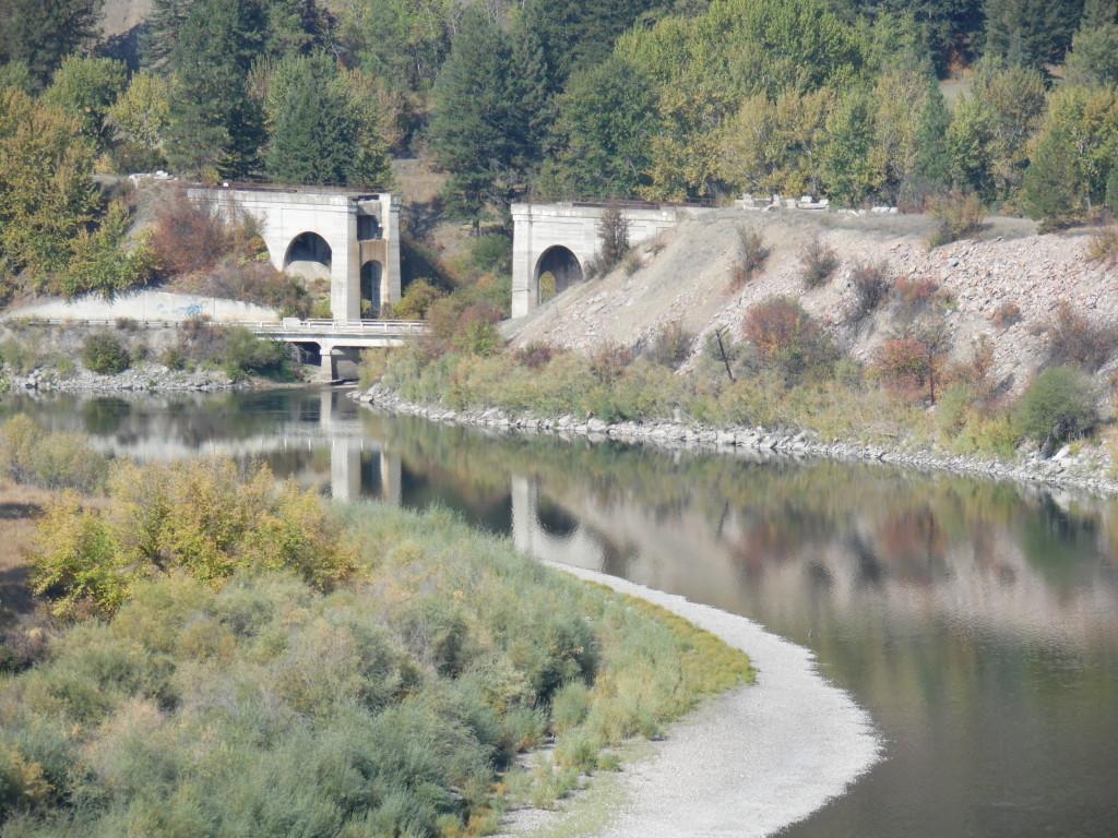 An abandoned railroad bridge